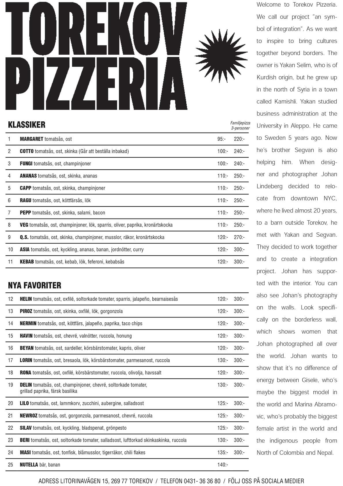 torekov pizza meny